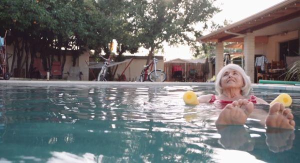 Barbara in swimming pool