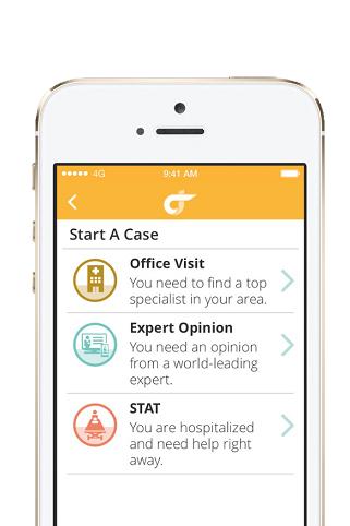Screenshot of Grand Rounds Mobile App