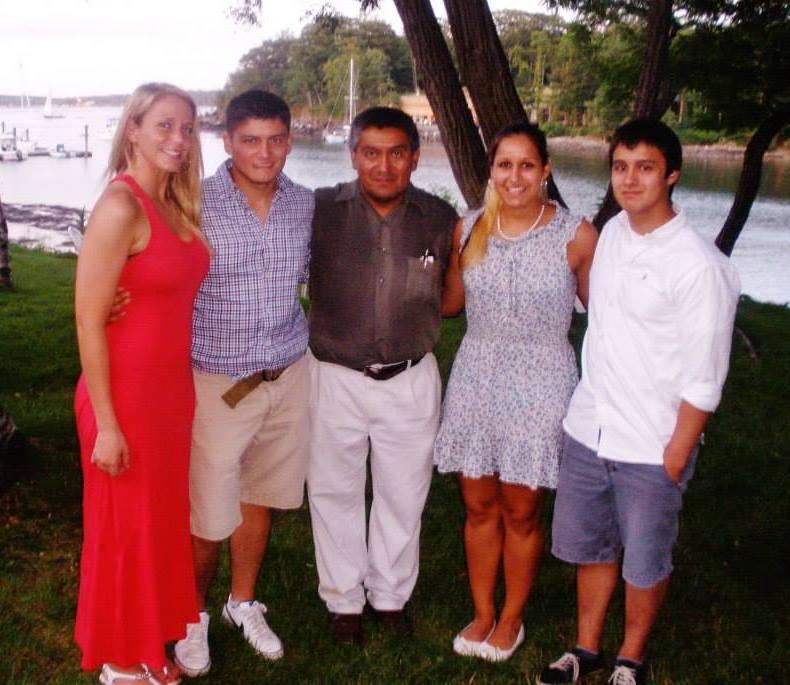 Pedro Rojas with children
