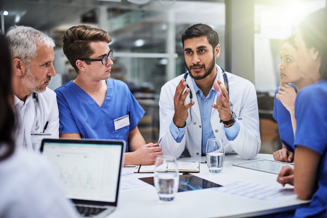 Shot of a team of doctors having a meeting