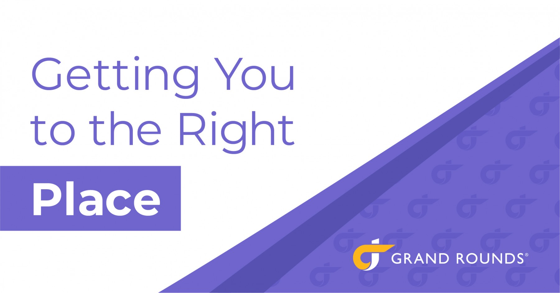 Chart: Getting you to the right place